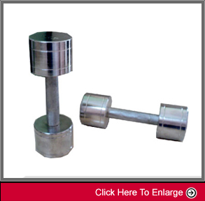 weight-lifting8 STEEL CHROME DUMBELLS