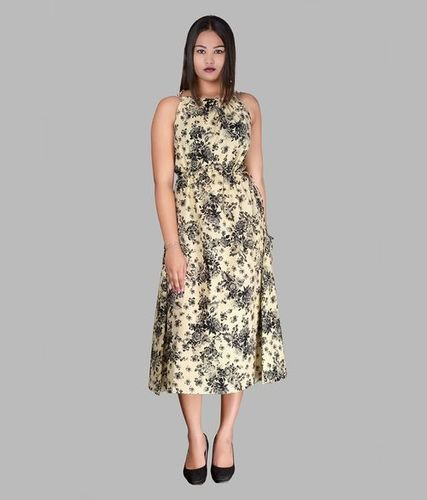 Halter cotten dress