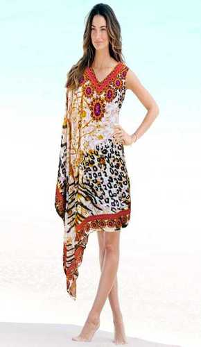 Digital Printed Crepe Kaftan