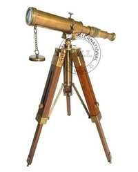 Brass Telescope On Tripod Stand