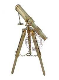 Full Brass Decorative Tabletop Telescope With Tripod Stand