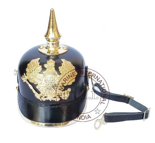 Leather German Picklehaube Armour Helmet