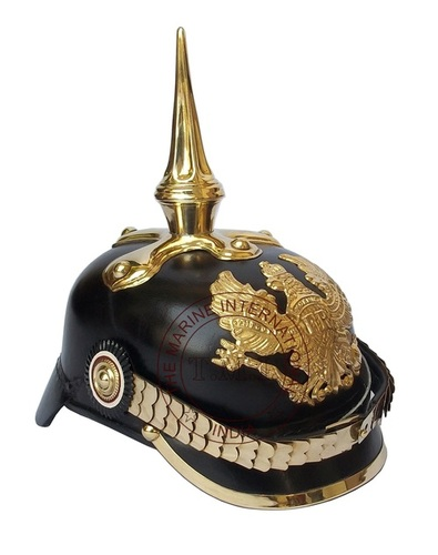 Long Spike Leather Germen Picklehaube Helmet