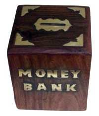 Desi Karigar Sheesham Wood Money Bank