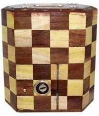 Desi Karigar Wooden Chess Style Money Bank
