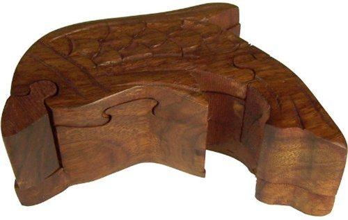 Desi Karigar Puzzle Box - Sheesham Wood Small Dolphin Trinket Keepsake box