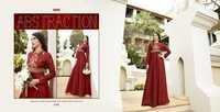 Buy Silk Bhagalpuri Gown Style Kurti Online
