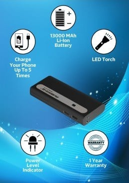 Portable Charger Equipped with Torch Light