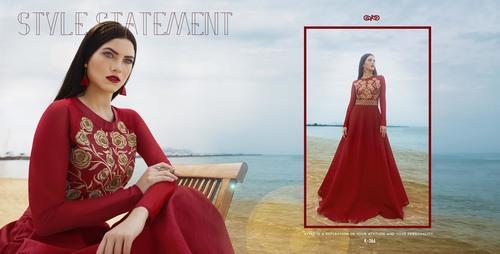 Shop Bhagalpuri Silk Gown Style Kurti Online