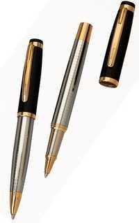 Lavis Half Blk, Half Chrome Pen Set