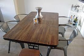 Wood and Metal Dining Set with Tolix Chair