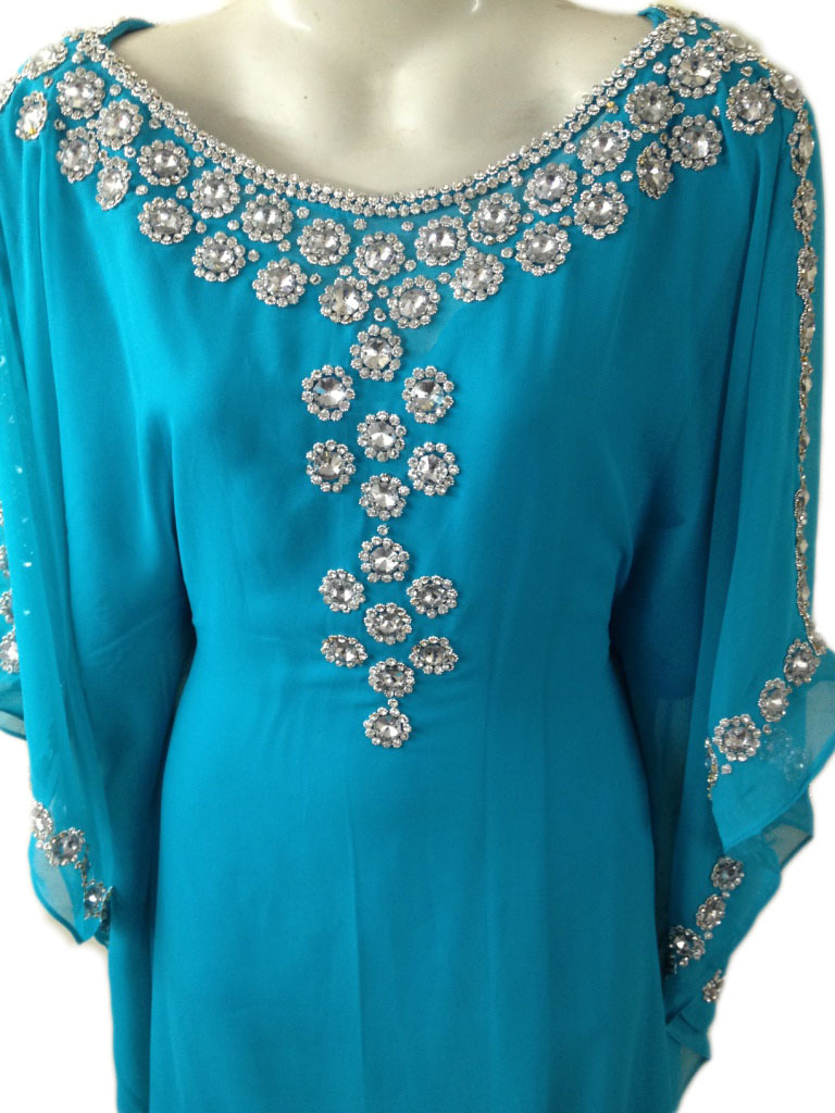Beautiful silver stone work fancy kaftan farash