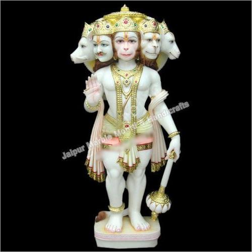 Marble Panchmukhi Hanuman Ji Standing Statue