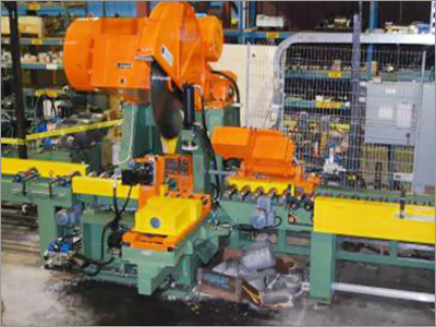 Cast House-Extrusion Billet Sawing , Stacking & Strapping