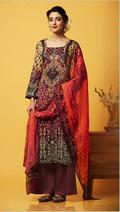 Pink Cotton Stylish Plazzo Suit