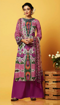 Multi Color Cotton Exclusive Plazzo Suit