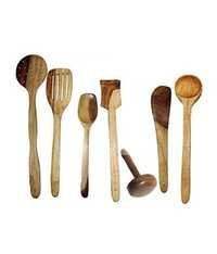 Desi Karigar Wooden ladles set of 7 pcs
