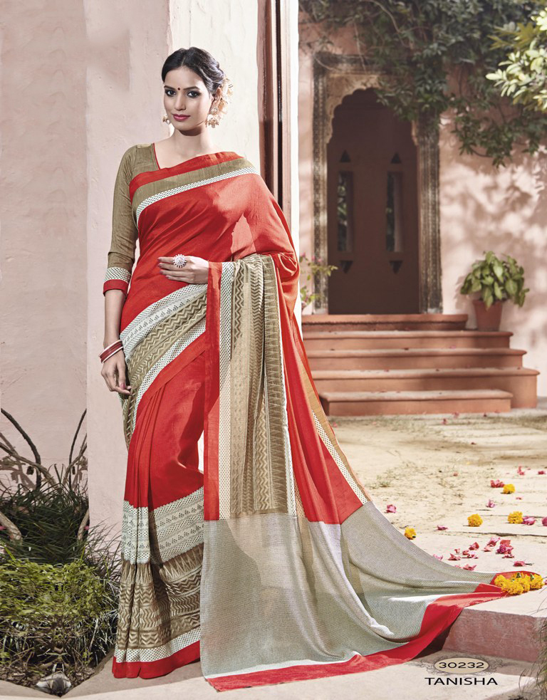 Yellow Jacquard Casual Wear Saree