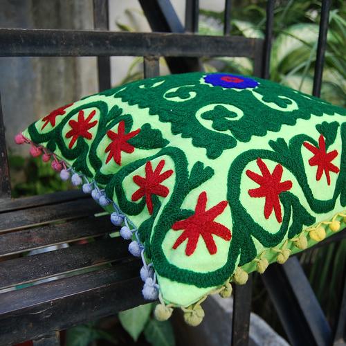 Indian handmade suzani cushion cover Throw Home Decor Cotton Pillow Cases
