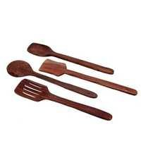 Desi Karigar Wooden Spatula And Ladle Set Pack of 4