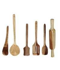 Desi Karigar Wooden skimmers set of 6