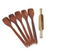 Desi Karigar Wooden Kitchen Tools Set Of 6