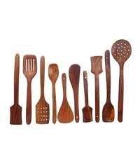 Desi Karigar Wooden Spoon Set of 10 Pieces