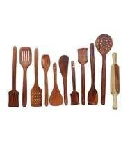 Desi Karigar Wooden kitchen tools set of 11