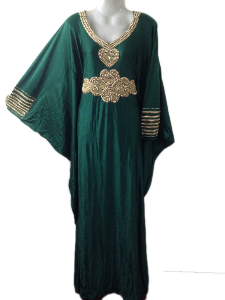 Long Sleeves Lycra Spandex Kaftan