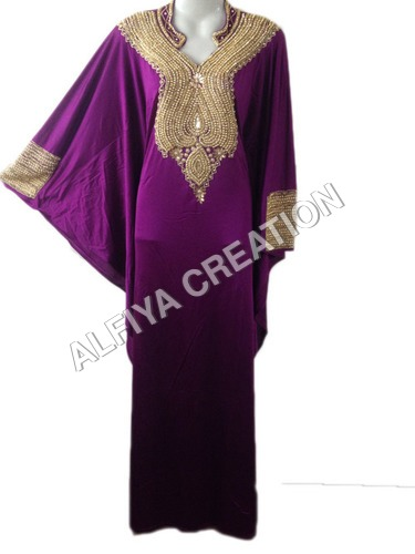 Islamic Long sleeves Moroccan Nigerian Lycra Spandex kaftans jalabiya farasha dress