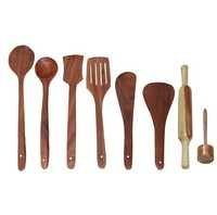 Desi Karigar Wooden Cutlery set of 8