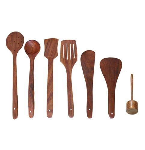 Desi Karigar Wooden skimmers set of 7