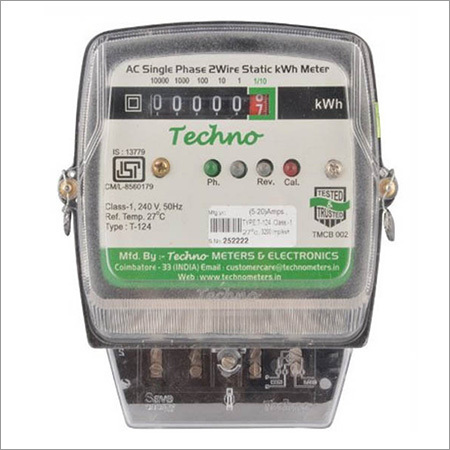 Single Phase Static Energy Meter with Counter Display