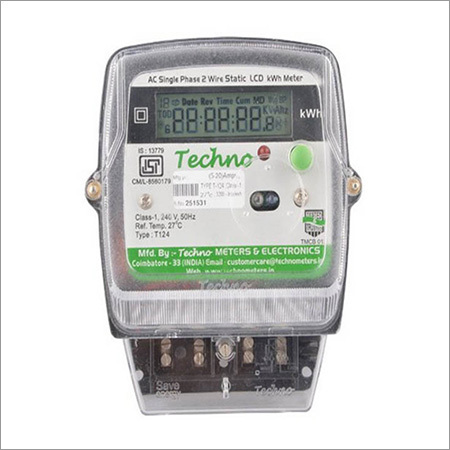 Single Phase Multifunction Electronic Energy Meter with LCD