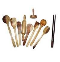 Desi Karigar Wooden Spoon Set of 10 Pcs/ Wooden Spatula, Ladle & Kitchen Tools Set