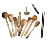 Desi Karigar Wooden Spoon Set of 11 Pcs/ Wooden Spatula, Ladle & Kitchen Tools Set