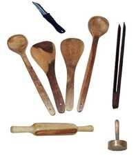 Desi Karigar Wooden ladles, rolling pin, masher, peeler and chimta