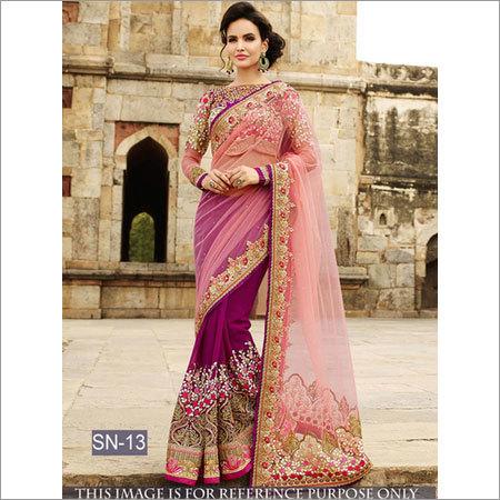Bollywood Replica Stylish Designer Party Wear Saree
