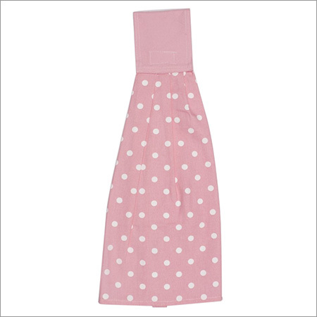 Pink Polka Dot Wash Towel