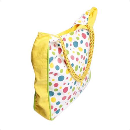 Large Solid-Multi Polka Handbag