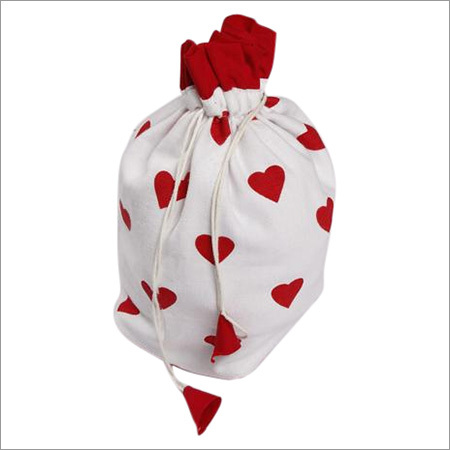 Gift Bag- Large Hearts Red