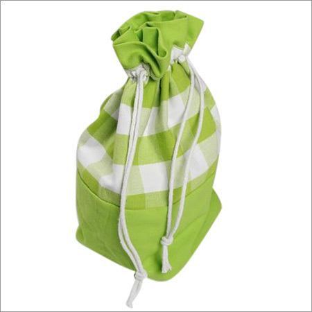 Block Check Green Gift Bag
