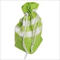 Block Check Green Gift Bag