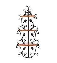 Desi Karigar Wall Mounted Wooden corner rack home décor carved furniture shelves