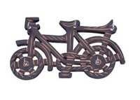 Desi Karigar Wooden Key Holder In Cycle Shape With Handicraft Design