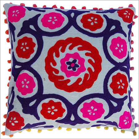Suzani hand made wool embrodred cushion cover home decor