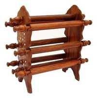 Desi Karigar Wooden Bangle Stand (Brown, 6 rod))
