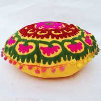 Decorative Suzani Cushion Covers Throw Indian Round Pillow Case