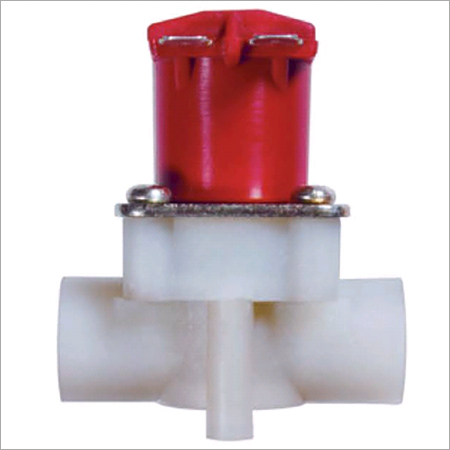 Straight magnetically latching valve
