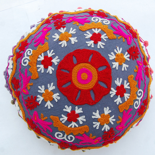 Indian Designer Suzani Cushion Cover